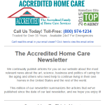 The Accredited Home Care Newsletter Is Launched!