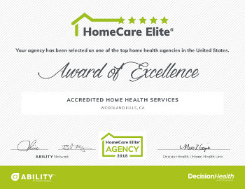 Home Care Elite 2018 Certificate