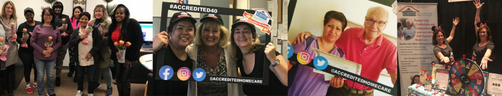Collage of images from the past 40 years of Accredited Home Care's History