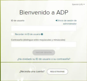 image of the ADP signup form in Spanish